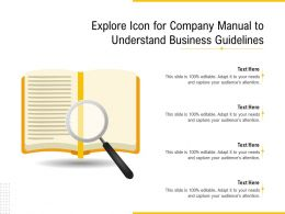 Explore Icon For Company Manual To Understand Business Guidelines