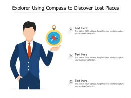 Explorer Using Compass To Discover Lost Places
