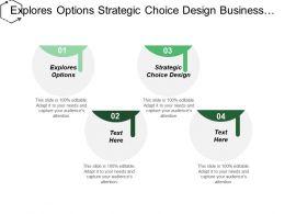 Explores Options Strategic Choice Design Business Development Branding Cpb