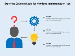 Exploring Optimum Logic For New Idea Implementation Icon