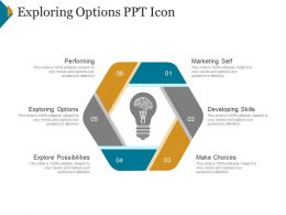 Exploring Options Ppt Icon