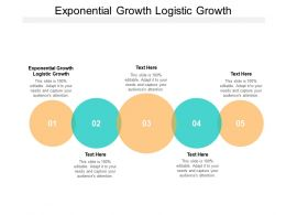 Exponential Growth Logistic Growth Ppt Powerpoint Presentation Layouts Cpb