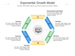 Exponential Growth Model Ppt Powerpoint Presentation Slides Visual Aids Cpb