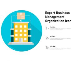 Export Business Management Organization Icon