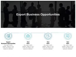 Export Business Opportunities Ppt Powerpoint Presentation Outline Visual Aids Cpb