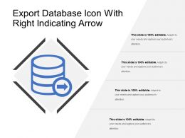 Export Database Icon With Right Indicating Arrow