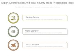 Export Diversification And Intra Industry Trade Presentation Ideas