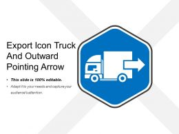 Export Icon Truck And Outward Pointing Arrow