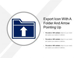 Export Icon With A Folder And Arrow Pointing Up