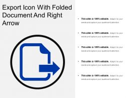 Export Icon With Folded Document And Right Arrow