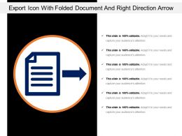 Export Icon With Folded Document And Right Direction Arrow