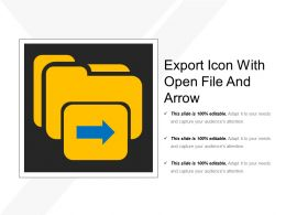 Export Icon With Open File And Arrow