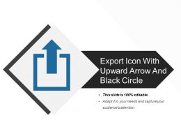 Export Icon With Upward Arrow And Black Circle