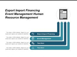 Export Import Financing Event Management Human Resource Management Cpb