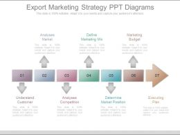 Export Marketing Strategy Ppt Diagrams