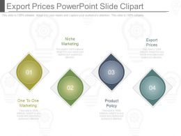 Export Prices Powerpoint Slide Clipart