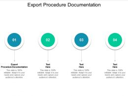 Export Procedure Documentation Ppt Powerpoint Presentation Inspiration Graphics Example Cpb
