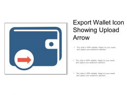 Export Wallet Icon Showing Upload Arrow