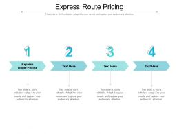 Express Route Pricing Ppt Powerpoint Presentation Outline Format Cpb