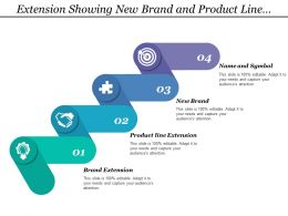 Extension Showing New Brand And Product Line Extension