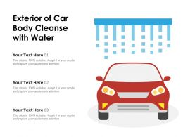 Exterior Of Car Body Cleanse With Water