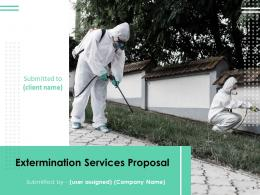 Extermination Services Proposal Powerpoint Presentation Slides
