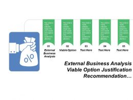 External Business Analysis Viable Option Justification Recommendation Managing Investment