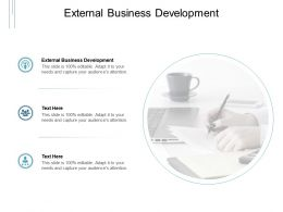 External Business Development Ppt Powerpoint Presentation Outline Cpb