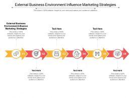 External Business Environment Influence Marketing Strategies Ppt Powerpoint Presentation Infographics Cpb