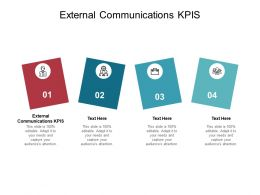External Communications KPIS Ppt Powerpoint Presentation Outline Model Cpb