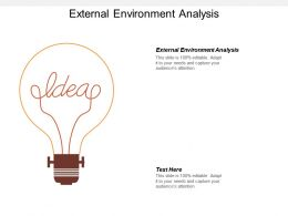 External Environment Analysis Ppt Powerpoint Presentation Gallery Professional Cpb