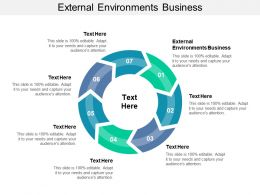 External Environments Business Ppt Powerpoint Presentation Slides Maker Cpb
