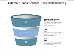 External Goods Services Price Benchmarking Ppt Powerpoint Presentation Outline Design Ideas Cpb