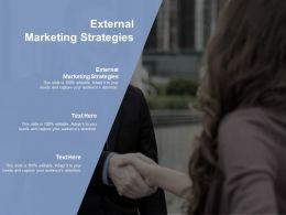 External Marketing Strategies Ppt Powerpoint Presentation Sample Cpb