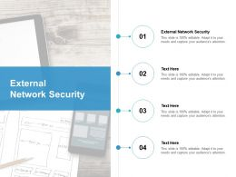 External Network Security Ppt Powerpoint Presentation Slides Rules Cpb