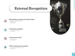 External Recognition Industry Ppt Powerpoint Presentation Samples