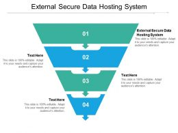 External Secure Data Hosting System Ppt Powerpoint Presentation Gallery Graphics Example Cpb