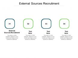 External Sources Recruitment Ppt Powerpoint Presentation Show Clipart Images Cpb