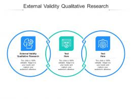 External Validity Qualitative Research Ppt Powerpoint Presentation Layouts Graphics Example Cpb