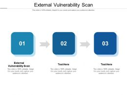 External Vulnerability Scan Ppt Powerpoint Presentation Infographic Template Graphics Tutorials Cpb