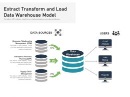 Extract Transform And Load Data Warehouse Model