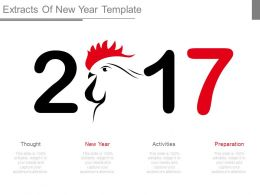 Extracts Of New Year Template