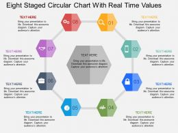 Ey Eight Staged Circular Chart With Real Time Values Flat Powerpoint Design