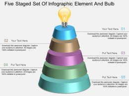 ey Five Staged Set Of Infographic Element And Bulb Powerpoint Template