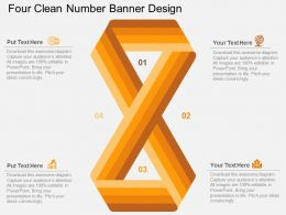 ey Four Clean Number Banner Design Flat Powerpoint Design