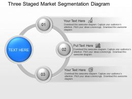 ey Three Staged Market Segmentation Diagram Powerpoint Template