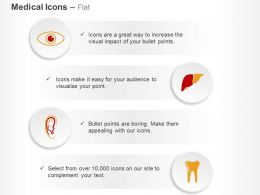Eye Ear Liver Tooth Care Techniques Ppt Icons Graphics