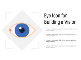 Eye Icon For Building A Vision