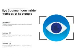 Eye Scanner Icon Inside Vertices Of Rectangle