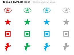 Eye Star Square Bird Ppt Icons Graphics
